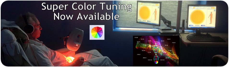 Experience Super Color Tuning, tne most advanced form of Color Therapy available